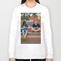 text Long Sleeve T-shirts featuring Text Chat by IowaShots