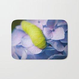 Actias Luna Larva on Hydrangea Nature Photo Bath Mat