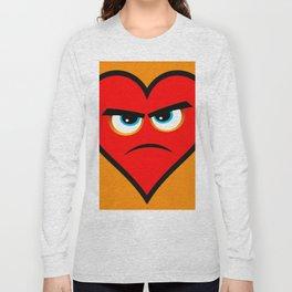 Heart Series Love Angry Hearts Love Valentine Anniversary Birthday Romance Sexy Red Hearts Valentine Long Sleeve T-shirt