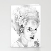 bride Stationery Cards featuring Bride by Leyla Buk