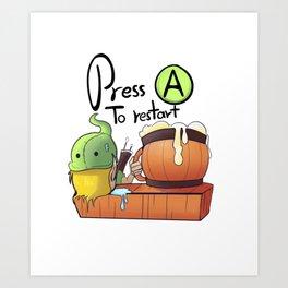 Tavern - Press A to restart Art Print
