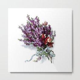 Vintage Lavender Bouquet Metal Print