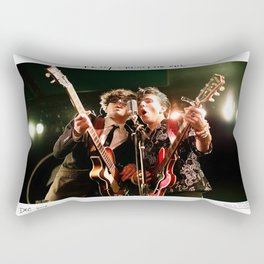 Birds in the Boneyard, Print One: Petey and Mikey on the Mic Rectangular Pillow