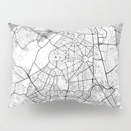New Delhi Map White Pillow Sham