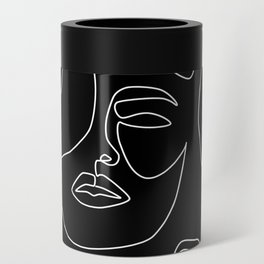 Faces in Dark Can Cooler