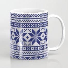 Winter knitted pattern 5 Coffee Mug