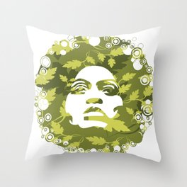 Natural Afro Throw Pillow