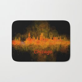 Chicago City Skyline Hq v4 Bath Mat