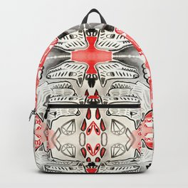 Black & Red Diamond Dogs Backpack