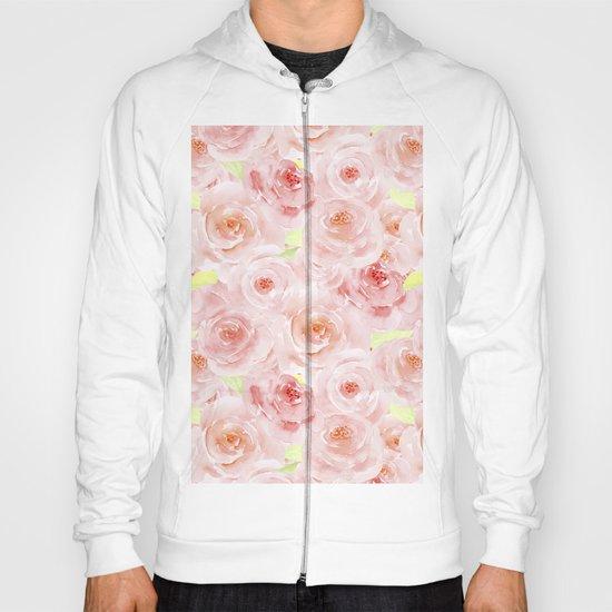 Rose pattern- Beautiful watercolor roses background Hoody