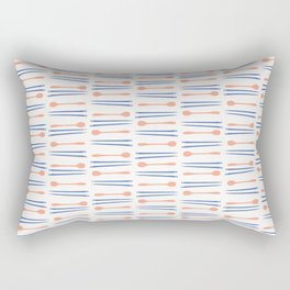 Chopsticks Silhouettes Vector Cutlery Rectangular Pillow
