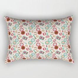 Doodle Makeup Pattern Rectangular Pillow