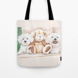 Two Bichons and A Friend Tote Bag