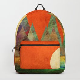 Many Moons Ago, Abstract Landscape Art Backpack