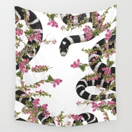 Snake Floral Wall Tapestry