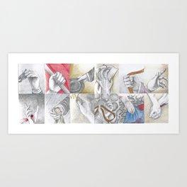 Hands at the Barricade Art Print