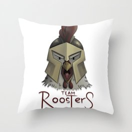 Team Rooster (W/O Background) Throw Pillow