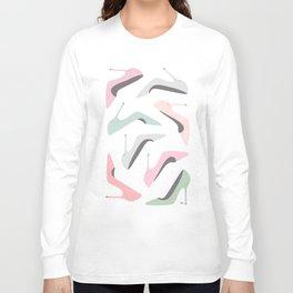 Shoe Love Fashion Illustration Long Sleeve T-shirt