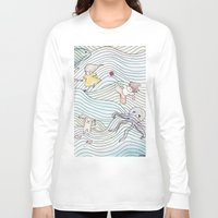 cook Long Sleeve T-shirts featuring Cook Party by Jane Chu
