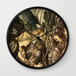 """Sisters, Your Help!"" by Arthur Rackham Wall Clock"