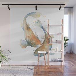 Koi Fish Watercolor Wall Mural