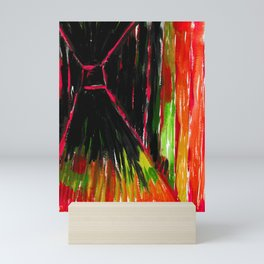 Dark Floors - Red Palette  Mini Art Print