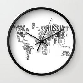 World Map - Atlas Wall Clock