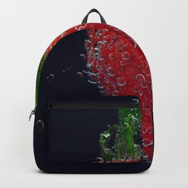 Morning Dew - Strawberry farmer's table color photograph wall decor Backpack