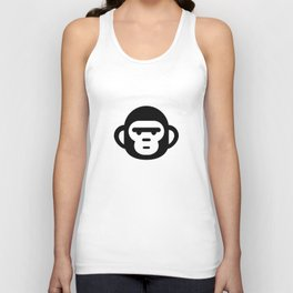 The grumpiest monkey. Unisex Tank Top