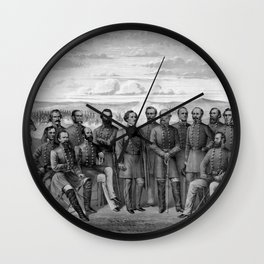 The Generals Of The Confederate Army Wall Clock