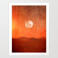 desert Art Prints featuring Desert by Viviana Gonzalez