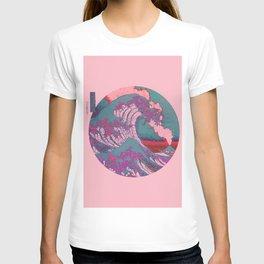 Great Wave Off Kanagawa Pink T-shirt