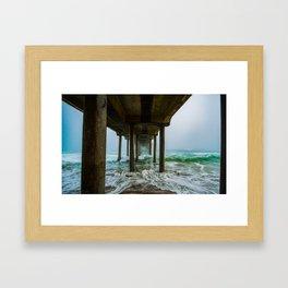 Murky Dreams - HB Pier 2016 Framed Art Print