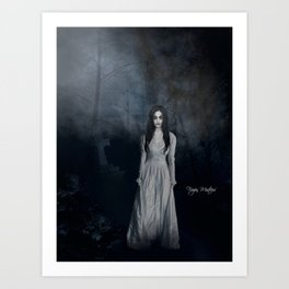 Ghost In The Mist Cristina Scabbia Inspired Artwork Art Print
