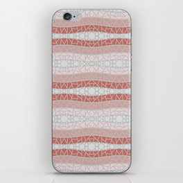 Mosaic Wavy Stripes in Terracotta, Pink and Gray iPhone Skin