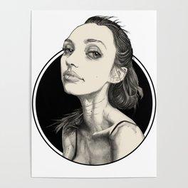 Arina Black Circle Poster