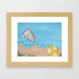 Rowboat at Shoreline Framed Art Print