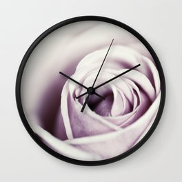 Close-up view of beatiful pink rose Wall Clock