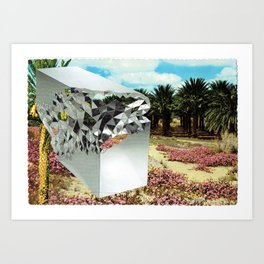 Picturesque Date Palms with Limited Edition Stellar Console Table Art Print
