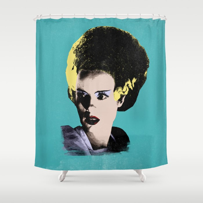 The Beautiful Bride of Frankenstein Shower Curtain
