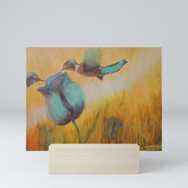 Beauty of life hummingbirds   Beauté de vie colibris Mini Art Print