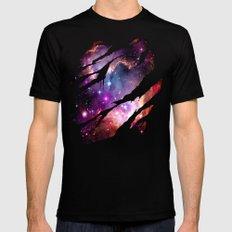 Deep Space Dream Mens Fitted Tee MEDIUM Black