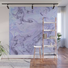 Marbly Lavender Wall Mural