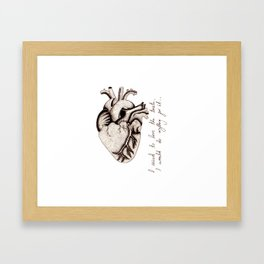 Pointilism Heart Framed Art Print