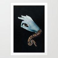 All seeing eye II. Art Print