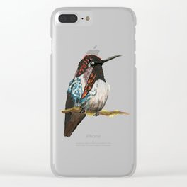 Bee Hummingbird Clear iPhone Case