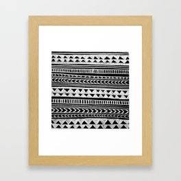 Triangle and Herring Bone Pattern Framed Art Print