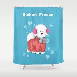 Bichon Freeze Shower Curtain
