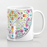circle Mugs featuring Circle by Liz Slome