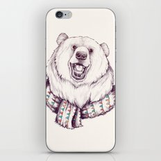 Bear & Scarf iPhone & iPod Skin